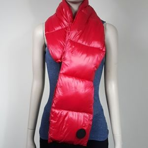 DKNY Red Puff Scarf One Size
